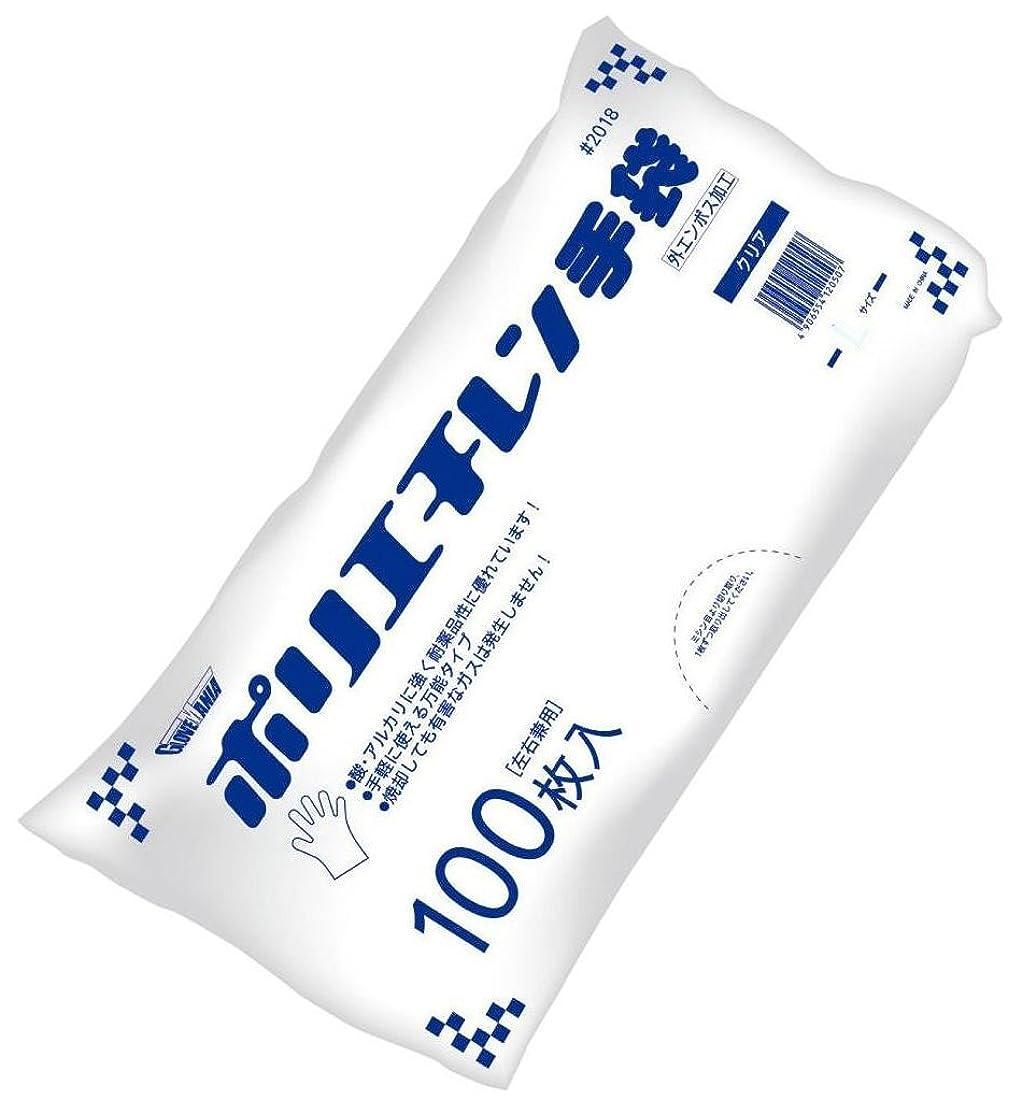 友情通知スコア川西工業 ポリエチレン手袋 外エンボス エコノミー 100枚入 #2018 クリア S