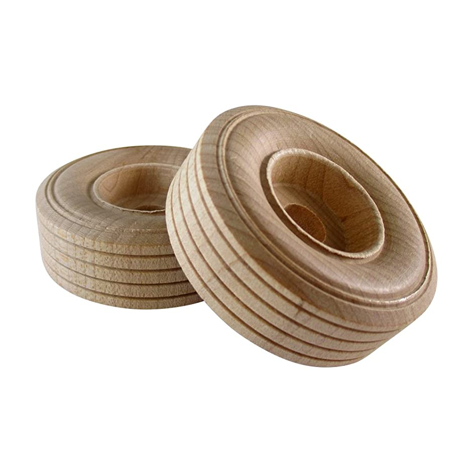 Woodpeckers 12 Wooden Craft Toy Treaded Wheels (2-3/4