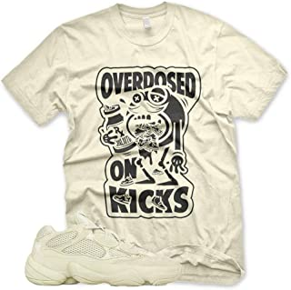 New Overdosed on Kicks T Shirt for Adidas Yeezy 500 Super Moon Yellow Desert Rat