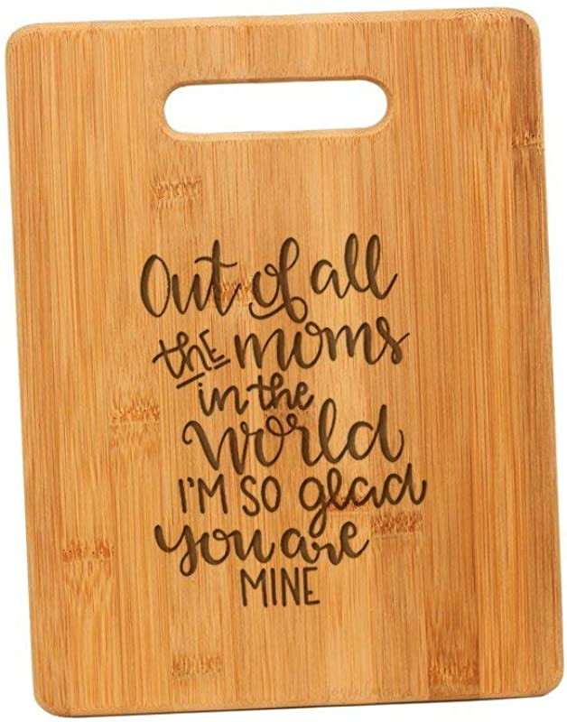 Engraved Bamboo Cutting Board Gift For Mom