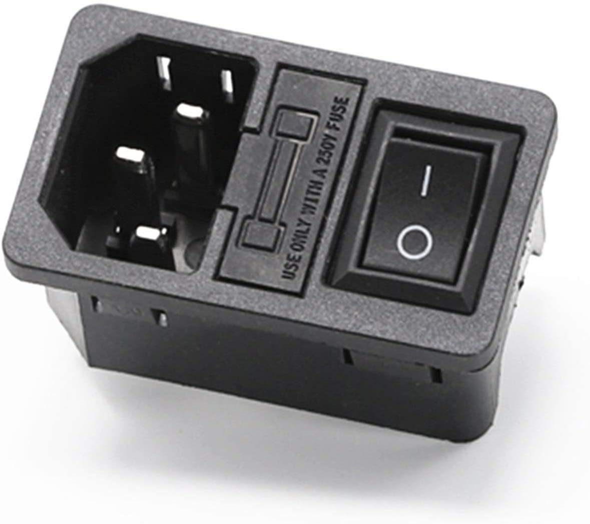 Yutwone Rocker Switch Max 74% OFF 10A 250VAC 3 Plug C14 Cheap mail order specialty store Connector Pin Inlet