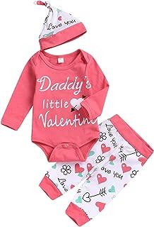 Newborn Baby Girl Mother's Day Pants Set   Daddy's Little Girl T-Shirt Mini Boss Romper+Cartoon Pants+Headband
