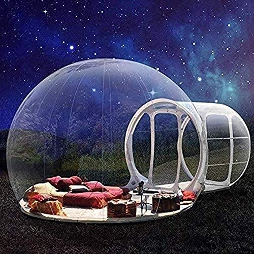 NZYMD Inflatable Bubble Tent House Outdoor Inflatable Camping Tent- Transparent 360° Dome Screen Single Tunnel with Air Blower for Outdoor Camping