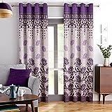 Story@Home Elegant Look Top Border Design Bottom Circles Pattern 1 Piece Window Curtains