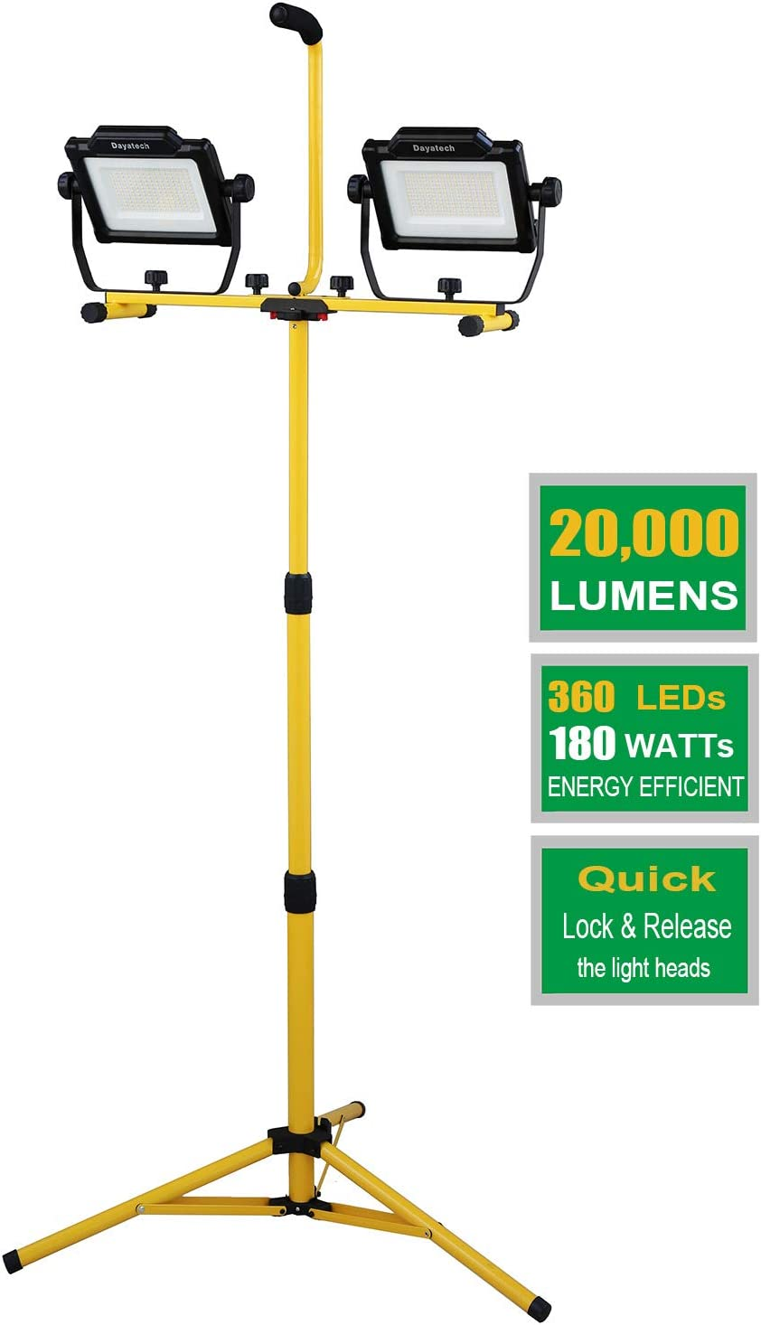 DAYATECH 180W 20000 Lumen Dual-Head LED Metal with Work Discount is also underway Cheap mail order sales Light Te
