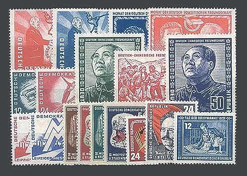 Goldhahn DDR Jahrgang 1951 postfrisch komplett Briefmarken für Sammler