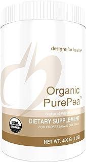 Designs for Health Organic PurePea - Vanilla Pea Protein Powder with 20g Vegan Protein, Organic + Non-GMO (15 Servings / 450g)