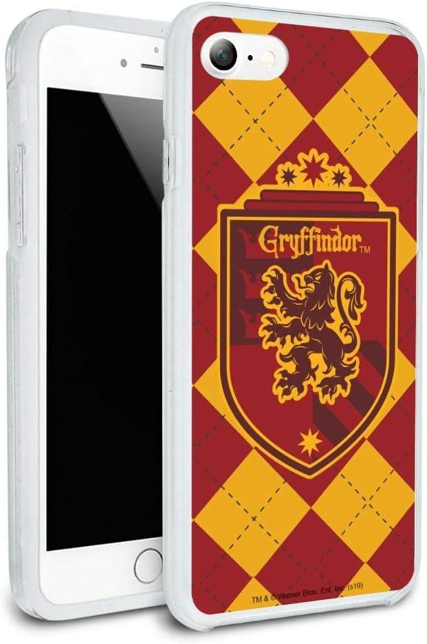 Harry Potter Gryffindor Plaid Sigil Protective Slim Fit Hybrid Rubber Bumper Case Fits Apple iPhone 8, 8 Plus, X, 11, 11 Pro,11 Pro Max
