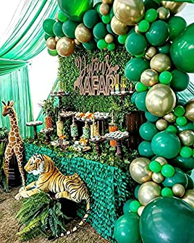 2021 Jungle Safari Theme Party Supplies 110 PCS Balloon Garland Kit Favors for Kids Boys Birthday Baby Shower Decor Balloons for Parties Christmas Party Birthday Balloons Decorations