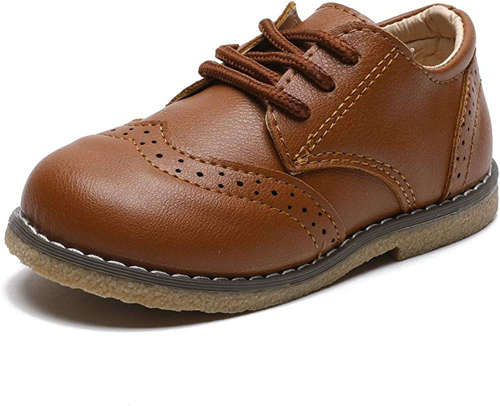 COSANKIM Toddler Boy's Ranking TOP3 Girl's Classic Milwaukee Mall Oxford Shoes La Leather PU