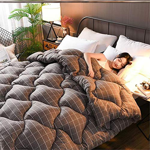 Almondcy Double Duvet Feather,Duvet double cartoon bedding autumn and winter down quilt single cotton student dormitory-200x230cm 4000g_H11