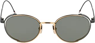 Luxury Fashion | Thom Browne Womens TB106DGLDBLK5012K Grey Sunglasses | Fall Winter 19