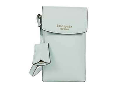 Kate Spade New York Spencer North/South Phone Crossbody for iPhone(r) (Crystal Blue) Cell Phone Case