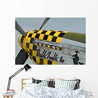 Wallmonkeys P-51 Mustang Nose Art Wall Decal Peel and Stick Graphic WM27593 (60 in W x 40 in H)