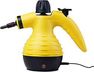 Bissell Handheld Pressurized Steam Cleaner Multipurpose Multisurface, Yellow (Renewed)