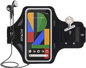Pixel 4 XL, Pixel 3a XL, Pixel 3 XL Armband, JEMACHE Thin Water Resistant Gym Running Workouts Arm Band for Google Pixel 4XL, 3a XL, 3XL, 2XL with Key Holder