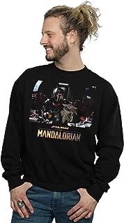 Star Wars Men's The Mandalorian Child On Board Sweatshirt