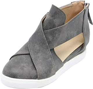 RAZAMAZA Women Casual Wedge Heel Summer Shoes Closed Toe