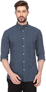 Celio Mens Button Down Collar Striped Shirt