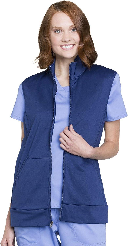 Workwear Revolution Men & Women Scrubs Vest Zip Front Knit WW520