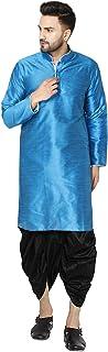 فستان رجالي من SKAVIJ من مجموعة كورتا Dhoti من الحرير للحفلات والمهرجانات