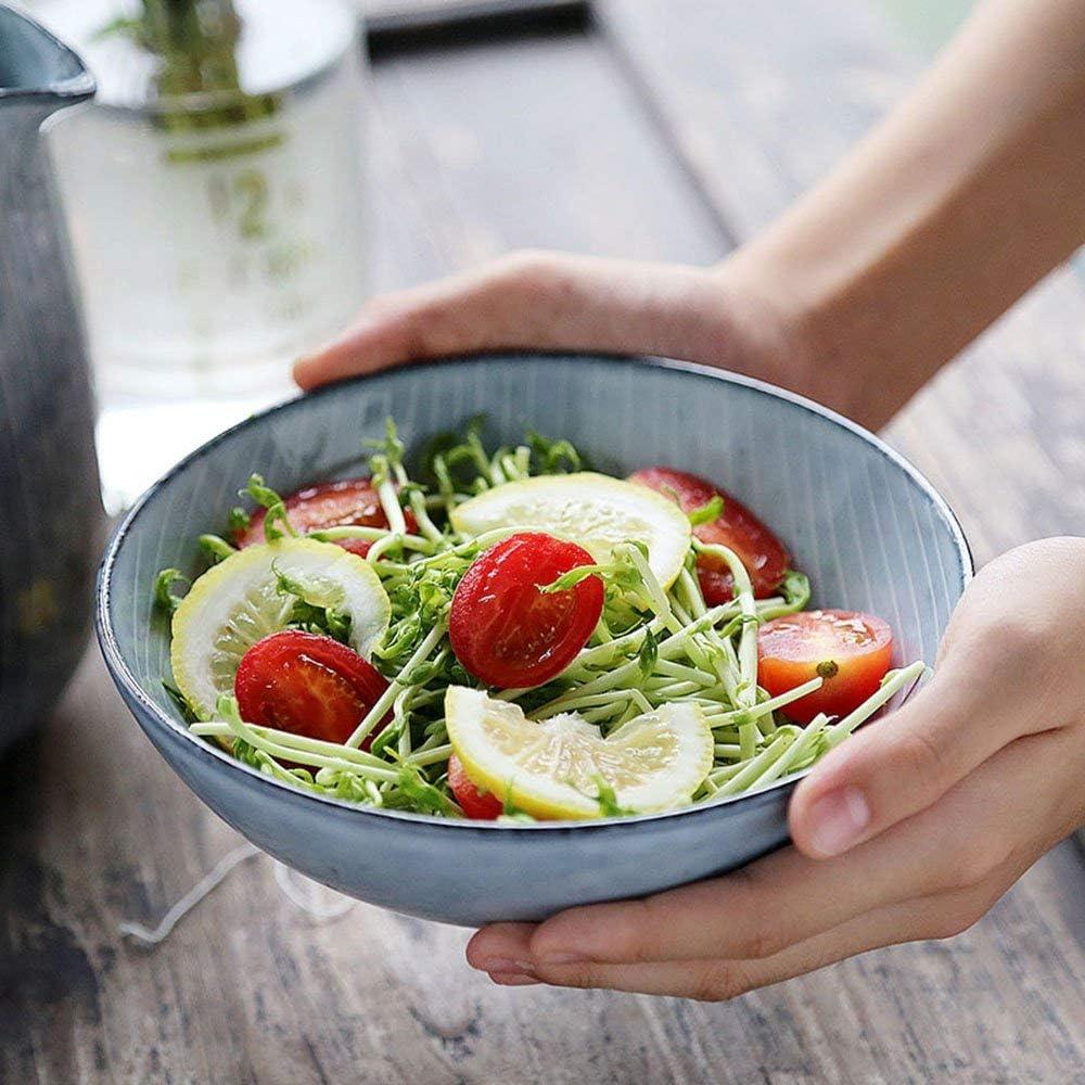 XKOEY Ceramic Outstanding Salad Bowl Topics on TV Deep Flat Dish Round