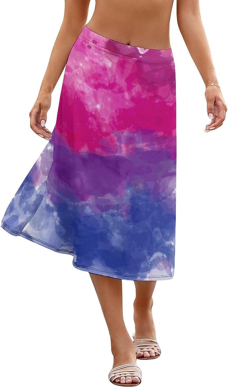 LpWu Bisexual Pride FlagwomensWomen Beach Wrap Sheer Skirt, Bikini SetsBikini Wraps Cover Ups for Swimwear
