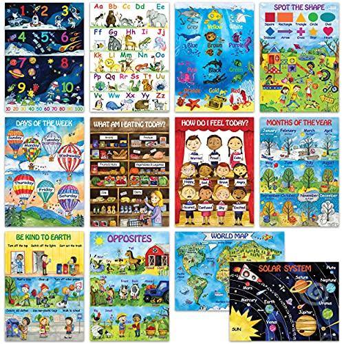 12 Kids Educational Posters