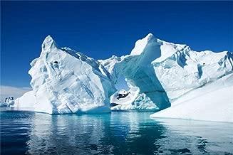 Baocicco 8x6.5ft White Iceberg Backdrops for Photography Polar Region Snow Wedding Backdrop North Pole Ice Shelf Snow Mountain Backdrops Blue Sky Pure Clean Sea Water Backdrop Photo Shooting Props