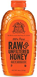 Nature Nate's 100% Pure Raw & Unfiltered Honey; 40-oz. Squeeze Bottle; Certified Gluten Free and OU Kosher Certified; Enjo...