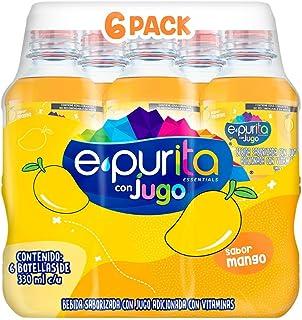 Epura Epurita con Jugo de Mango, Agua de Sabor Para Niños, Contenido 1 Paquete con 6 Botellas PET de Agua de Sabor Para Ni...