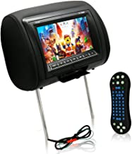Pyle 7-Inch Car Headrest Mount, DVD Player, USB LCD Screen, Headrest Screen, Car Seat Monitor, Widescreen Monitor, IR Transmitter, Car Video Player, Headrest Covers, Remote Control, Black (PL73DBK)