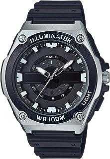 Casio Men's Quartz Watch with Resin Strap, Black, 18 (Model: MWC-100H-1AVCF)