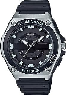 Men's Quartz Watch with Resin Strap, Black, 18 (Model: MWC-100H-1AVCF)