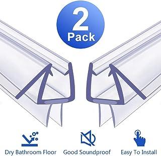 """Shower Door Bottom Seal, 2 Pack Glass Shower Door Seal Strip Shower Door Seal Frameless Seal Shower Door – Stop Shower Leaks and Create a Water Barrier (3/8"""" X 39"""") (2)"""