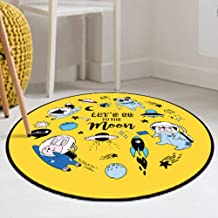 Rugs Cartoon Animal Round Coral Fleece Carpet Bedroom Living Room Coffee Table Room Computer Chair Mat,1,60 * 60cm