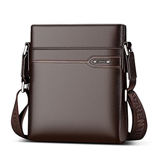 LAORENTOU Leather Shoulder Bags for Men, Genuine Leather, Waterproof, 2 Colours, Zipper...