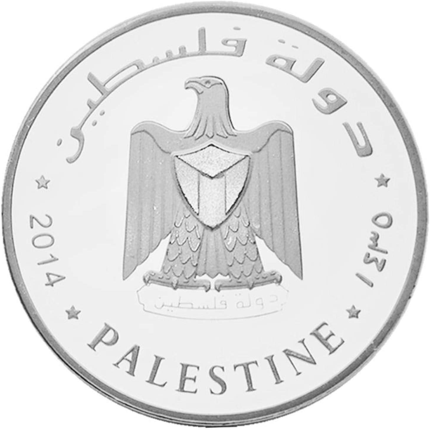 QAZPL Moneda sin Moneda Ciudad Santa Jerusalén colección de Monedas conmemorativas Regalo Recuerdo Moneda Arte artesanía Metal Antiguo