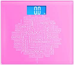 NYDZDM Digital Bathroom Scales High Precision Weighing Scale with Step-On Technology, Backlight Display (Color : Pink)