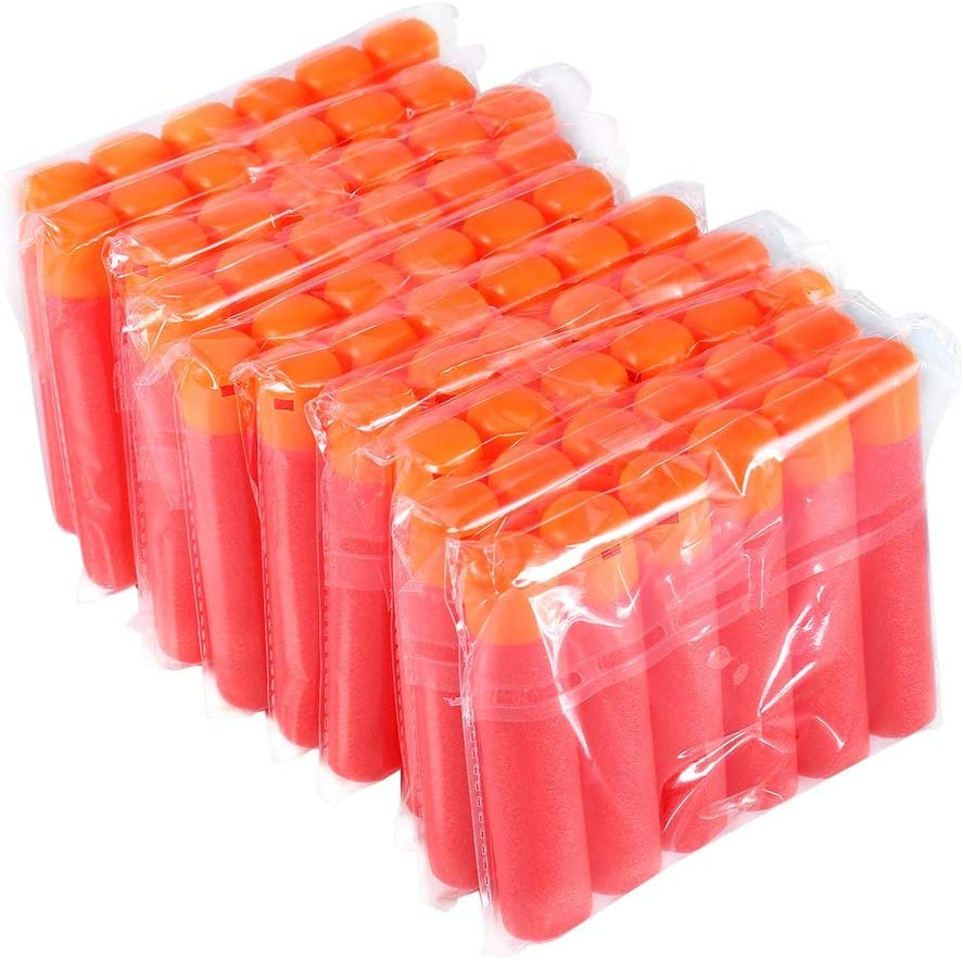 Yosoo 240Pcs Refillable Mega Sponge EVA Round Head Soft Bullets