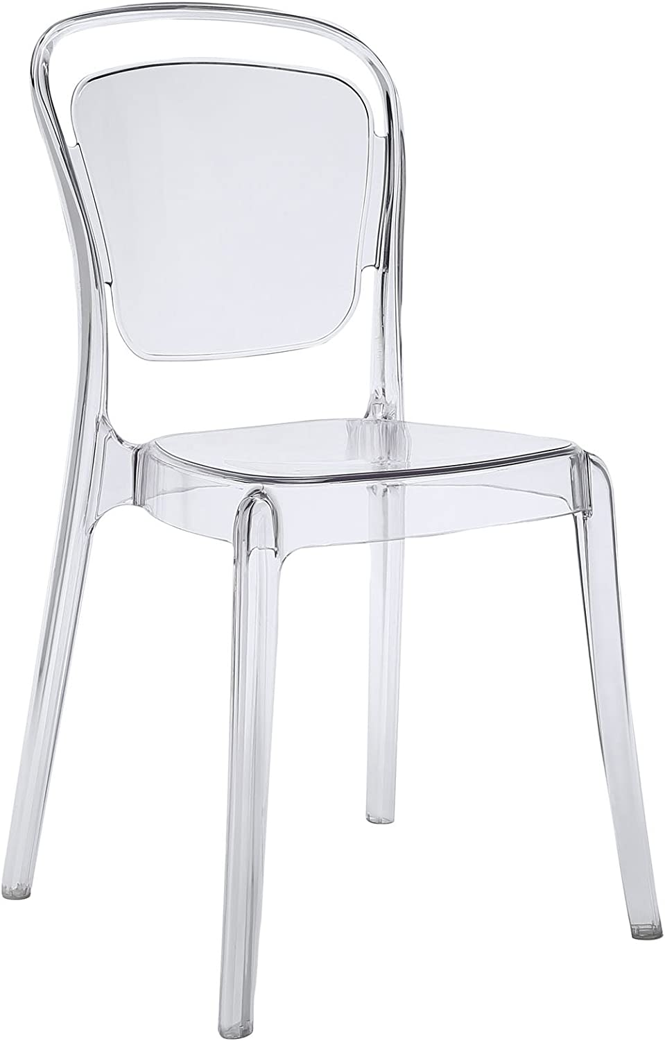 Modway Entreat Acrylic Transparent Dining Side Chair in Clear