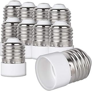 kwmobile 10x Casquillos de lámpara - Adaptador conversor de Montura E27 a Casquillo E14 - Zócalos para lámparas LED halógenas y de Ahorro