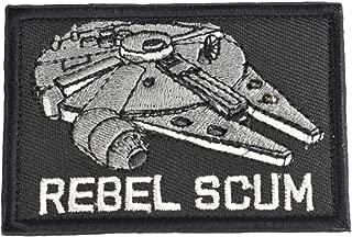 Jadedragon Star War Embroidered Morale Hook Fastener Tactical Patch (Black R)
