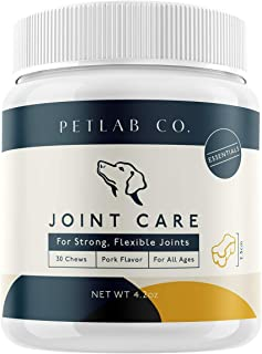 Petlab Co. Joint Health Care Chews for Dogs | Arthritis Soft Chew Dog Hip and Joint Chewable Supplement Vitamins | MSM, Glucosamine, Fish Oil Omega-3 Fatty Acids, Calcium Fluoroborate, Turmeric Supple