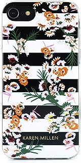 Karen Millen Fashion Slim Jelly Case for iPhone 8/7 / 6 - Floral Stripe