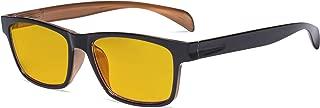 Eyekepper Blue Light Blocking Glasses with Amber Tinted Filter Lens - Computer Eyeglasses Men Women - Black Brown