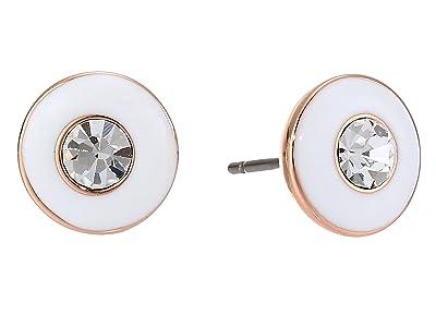 Kate Spade New York Candy Drops Enamel Round Studs Earrings (White Multi) Earring