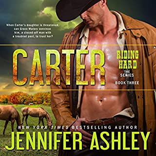 Carter     Riding Hard, Volume 3              Written by:                                                                                                                                 Jennifer Ashley                               Narrated by:                                                                                                                                 Eric G. Dove                      Length: 5 hrs and 47 mins     Not rated yet     Overall 0.0