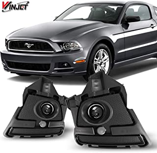 Winjet WJ30-0438-09 OEM Series for [2013-2015 Ford Mustang] Clear Lens Driving Fog Lights + Switch + Wiring Kit