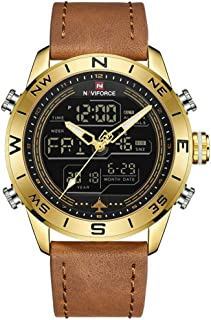 NAVIFORCE Sport Male Waterproof Quartz Digital Led Wristwatch